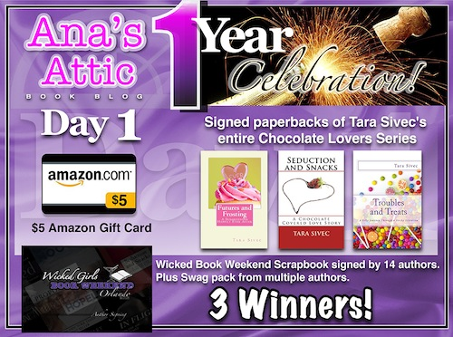 1 year Blogoversary Giveaway: Day 1