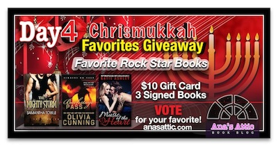 Ana's Chrismukkah Favorites Giveaway Day 4 – Rock Star Romances
