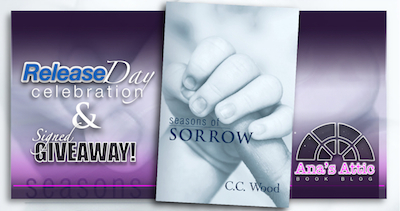 Release Day Celebration – Seasons of Sorrow by C.C. Wood with signed giveaway