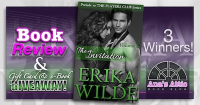Book Review – The Invitation by Erika Wilde with 3 gift card and e-book winners!