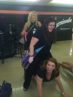 Apparently RK Lilley and I rode Kim Jones while someone did push-ups!