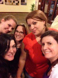 Clara Fox, Shannon, Kim Jones, Rochelle Paige and me