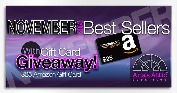 Kindle Bestsellers for November 2014 with Gift Card Giveaway