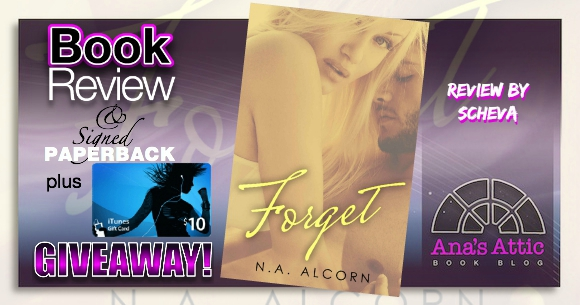 Scheva's Book Review – Forget by N.A. Alcorn with Giveaway