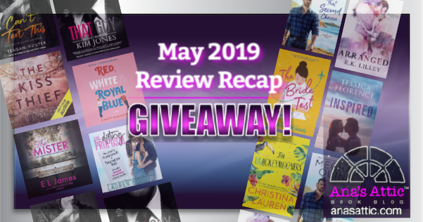 May 2019 Review Recap Giveaway