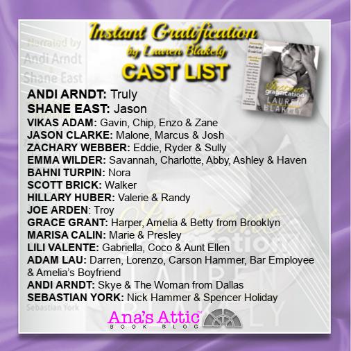 Instant Gratification by Lauren Blakely Cast List