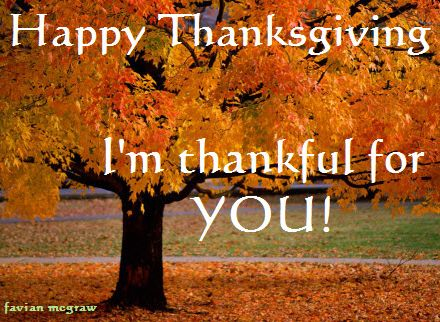 I Am So Thankful For….