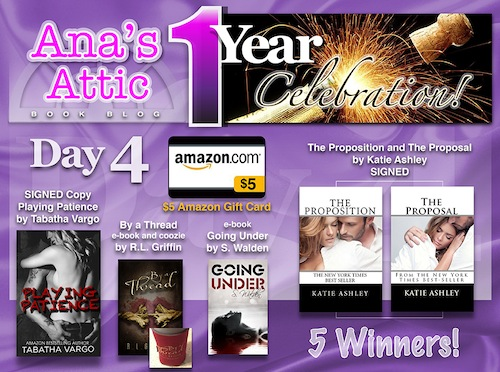 1 Year Blogoversary Giveaway Day 4