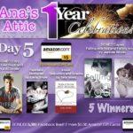 1 Year Blogoversary Giveaway Day 5 plus 5,000 Likes Bonus!