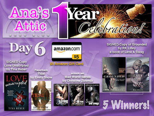 1 Year Blogoversary Giveaway Day 6