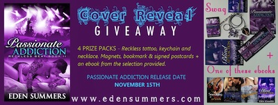 Cover Reveal and Giveaway- Passionate Addiction by Eden Summers