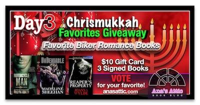 Ana's Chrismukkah Favorites Giveaway Day 3 – Biker Romances