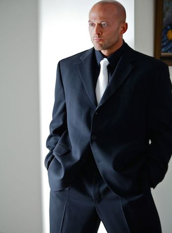 Male Fashion Model John Quinlan in Calvin Klein