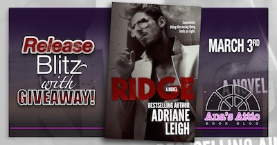 Ridge by Adriane Leigh Release Day Giveaway