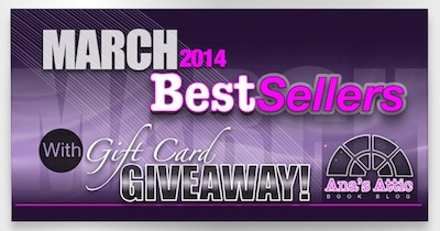 Kindle Best Sellers for March 2014 with Giveaway