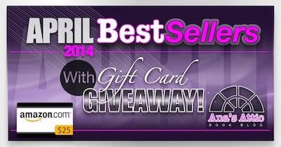 Kindle Best Sellers for April 2014 Gift Card Giveaway