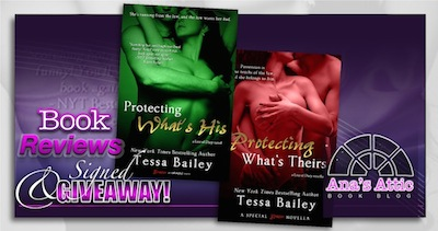 Book Reviews- Protecting What's His (and Theirs) by Tessa Bailey with signed giveaway