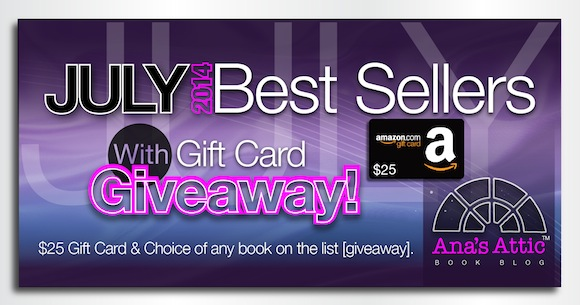 Bestsellers from July 2014 with Gift Card Giveaway