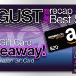 August 2016 Review Recap and Bestsellers with $20 Giveaway