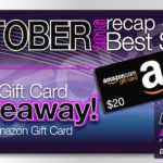October 2016 Recap and Bestsellers with $20 Giveaway