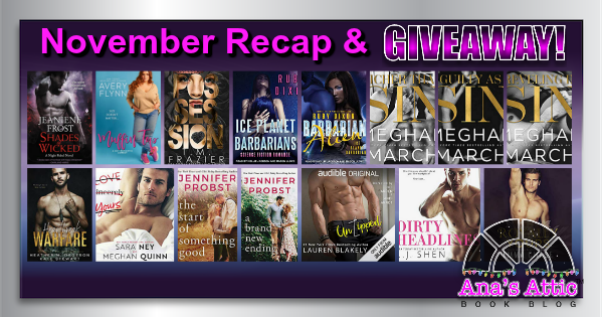 November 2018 Review Recap with Giveaway