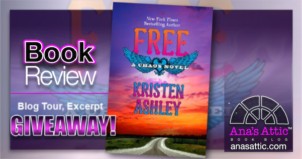 FREE (Chaos Series Book 7) by Kristen Ashley – Blog Tour Book Review
