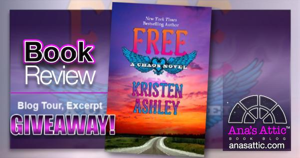 FREE (Chaos Series Book 7) by Kristen Ashley – Blog Tour Book Review